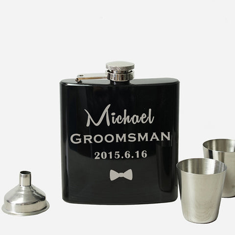 Personalized Groomsmen Gifts Hip Flask