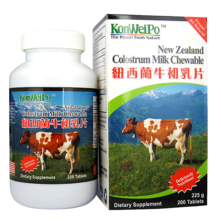 紐西蘭牛初乳片 (New Zealand Colostrum Milk Chewable) 200's