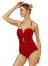 Reteron Women's Plunge High Waisted One Piece Swimsuit Monokini