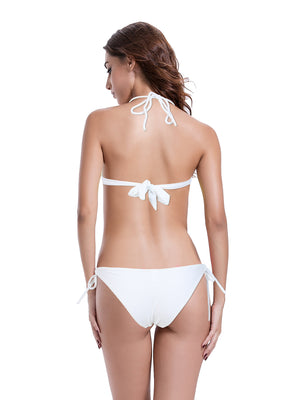 Zeraca Women's Bow Brazilian Triangle Bikini Bathing Suits - zeraca