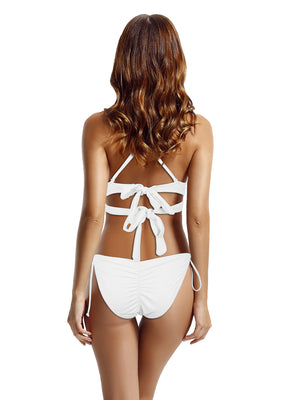 Zeraca Women's Wrap Halter Criss Cross Bikini Bathing Suits - zeraca