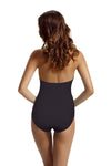 Zeraca Women's Halter Push Up One Piece Swimsuit - zeraca