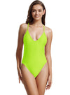 Zeraca Women's Sexy High Cut Racerback One Piece Bathing Suit Swimsuit - zeraca