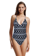 Zeraca Women's Sexy High Cut Racerback One Piece Bathing Suit Swimsuit