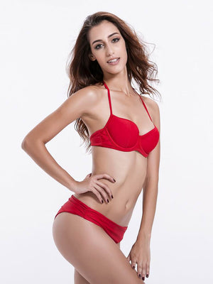 Zeraca Women's Hot Red Push Up Bikini Bathing Suit - zeraca