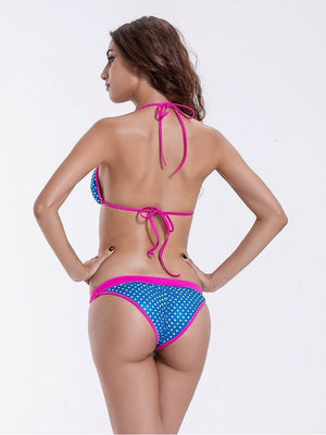 Zeraca Women's Cute Dot Triangle Bikini Bathing Suits - zeraca