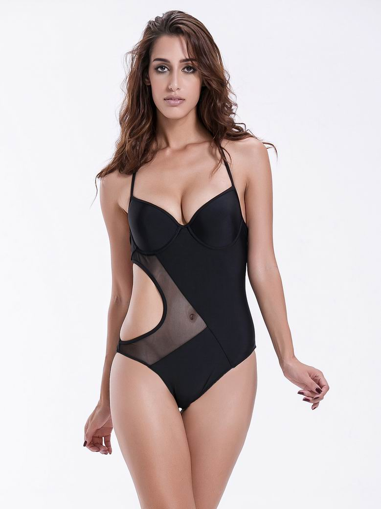 4b62e091e9ec8 Zeraca Women's Halter Mesh Cutout One Piece Swimsuit – zeraca