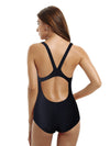 Zeraca Women's High Cut Racerback Athletic One Piece Swimsuit - zeraca