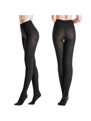 Zeraca Women's 120 Denier Sheer to Waist Pattern Footed OpaqueTights 3 Pack - zeraca