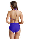 Zeraca Women's High Waisted Bottom Triangle Bikini Bathing Suits - zeraca