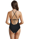 zeraca Women's High Neck Mesh One Piece Swimsuit Monokini