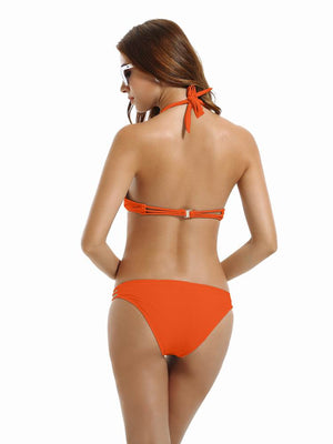 Zeraca Women's Strappy Push Up Bikini Bathing Suits - zeraca