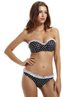 Zeraca Women's Push Up Ruffle Polka Dot Bikini Bathing Suits - zeraca