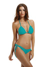 Zeraca Women's Tie Side Bottom Triangle Bikini Swimsuits - zeraca