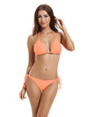 Zeraca Women's Tie Side Pantie Triangle Bikini Set - zeraca