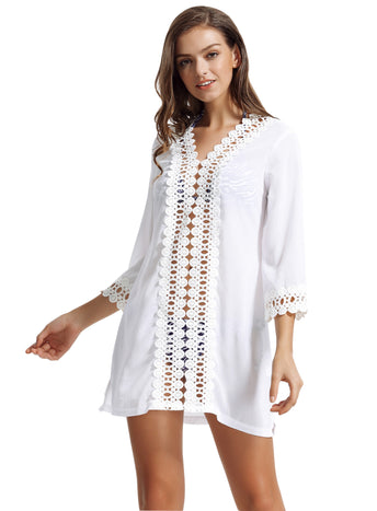Zeraca Women's Bikini Bathing Suit Beach Cover Up Dress
