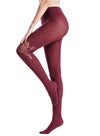 Zeraca Women's 120D Sheer To Waist Pattern Footed Opaque Tights 1 or 3 Pack - zeraca