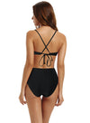 Zeraca Women's Strappy Cross back High Waisted One Piece Monokini Bathing Suit - zeraca