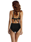 Zeraca Women's High Waisted Deep Plunge One Piece Swimsuit Monokini
