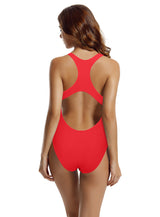 Zeraca Women's Retro Raceback One Piece Swimsuit Bathing Suit