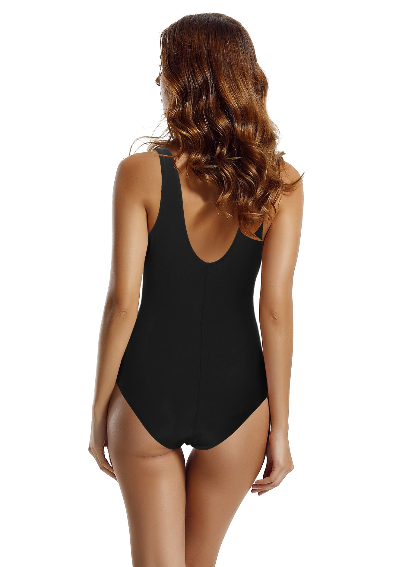 60cacfab4a8f4 Zeraca Women's Tie Front Plunge High Waisted One Piece Swimsuit Monokini