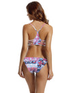 zeraca Women's Strap Side Bottom Halter Racerback Bikini Bathing Suits (FBA) - zeraca