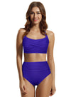 Zeraca Women's Twist High Waisted Bikini Bathing Suit