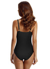 Zeraca Women's Cross Front Tummy Control One Piece Swimsuit Bathing Suit