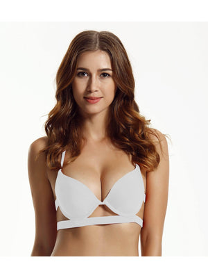 Zeraca Women's Push Up Halter Bikini Top - zeraca