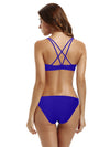 Zeraca Women's Hipster Bottom Crossback Bralette Bikini Bathing Suits