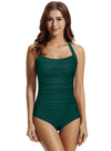 Zeraca Women's Twist Tummy Control One Piece Swimsuit