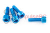 M3 x 10mm - Aluminium Cap Screw Blue (4 Pack)