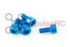M3 x 6mm - Aluminium Cap Screw Blue (4 Pack)