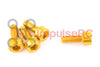 M3 x 8mm - Aluminium Cap Screw Gold (4 Pack)