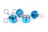 M3 - Aluminium Nylock Nuts Blue (4 Pack)