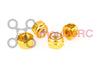 M3 - Aluminium Nylock Nuts Gold (4 Pack)