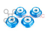 M5 - Aluminium Flanged Nylock Blue - Motor Nuts (4 Pack)