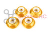 M5 - Aluminium Flanged Nylock Gold - Motor Nuts (4 Pack)