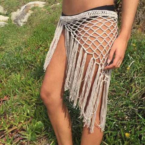 Crochet Fringe Sarong (10 Colors)