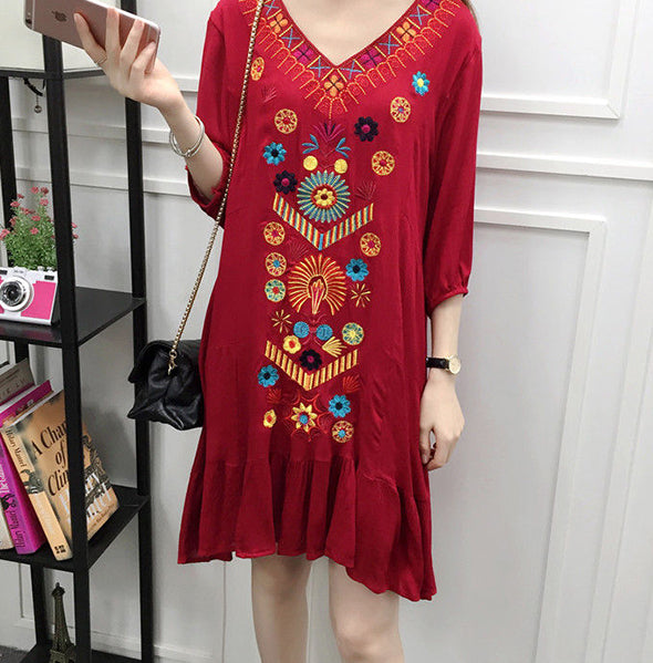 Aria Embroidered Dress (5 Colors)