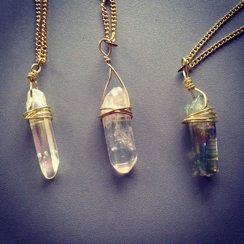 Crystal Point Necklace (2 Colors)