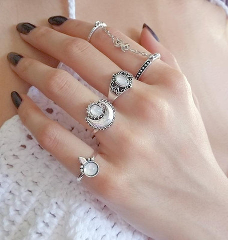 Moon Child Ring Set