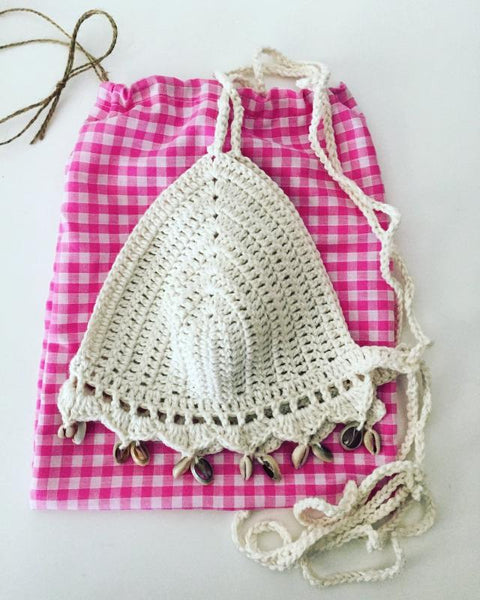 Crochet Shell Bikini Top (10 Colors)
