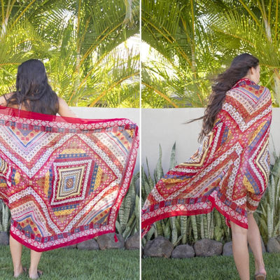 Boho Pattern Shawl