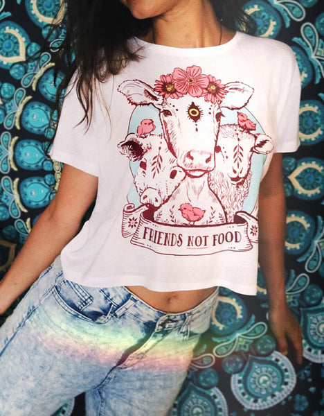 Friends Not Food Crop Top - My Positive Vibes