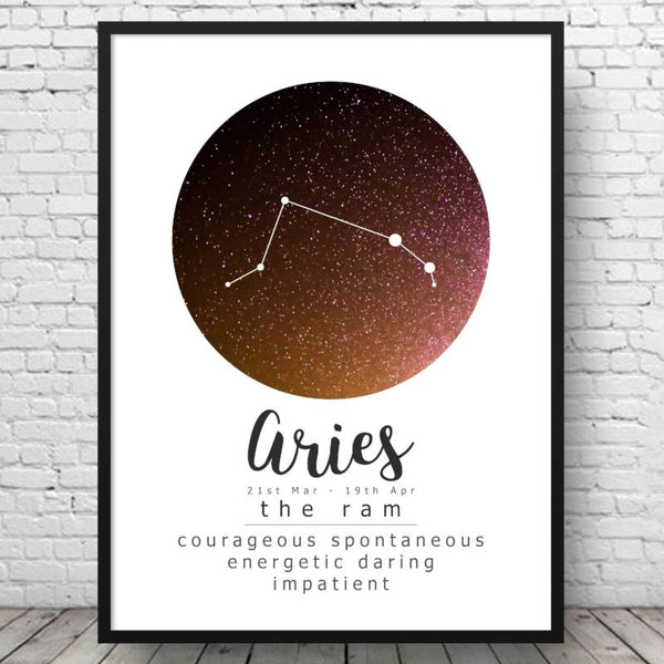 Aries Zodiac - Art Print