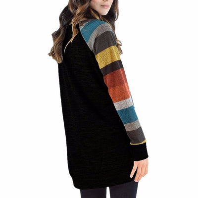 Striped Sleeve Pullover (4 Colors)