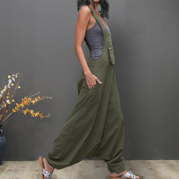 Loose Harem Jumpsuit (3 Colors)