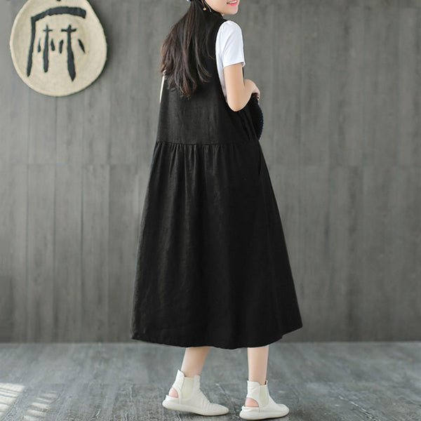 Minimal Loose Cotton Dress (3 Colors)