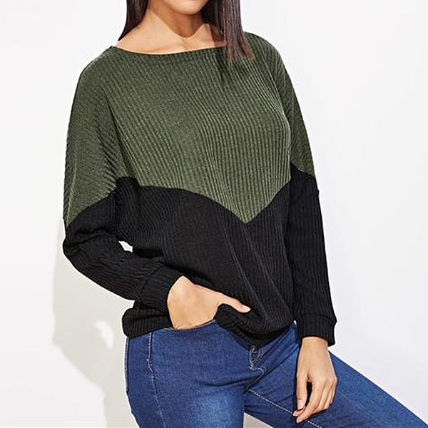 Forest Ribbed Sweater